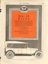 1920 MOON COUPE  ORIG VINTAGE  CAR  AD