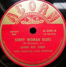 0732/BLUES-SINGER DANNY BOY COBBS-Sorry woman blues-Please don´t  leav-Schellack