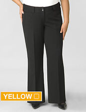NWT Lane Bryant Black Houston Right Fit Yellow Square Pants 7P x 28 ½