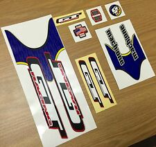 NOS GT MACH ONE BMX MIDSCHOOL DECALS ORIGINALS Cycle Design RARE
