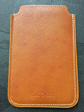 Paul Smith PS Tan Burnished Leather Phone Case/ Card holder  Brand New