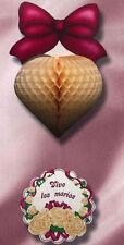 Coeur à suspendre bordeaux et vive les mariés decoration mariage Cérémonie noces
