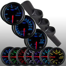98-02 DODGE RAM 2500 3500 CUMMINS TRIPLE POD + BLACK 7 DIESEL GAUGES w FUEL PSI