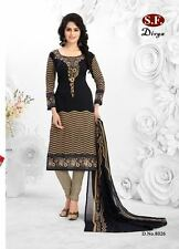 Unstitched Salwar EDH Kameez Churidar Punjabi Suit Indian Pakistani Synthetic