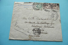 IRISH POSTAL HISTORY.1901 UNDELIVERED LETTER FROM DUBLIN TO OHIO,US.NICE CANCELS