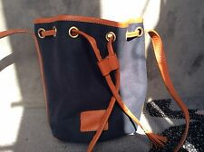 BNWT Jack Wills Drawstring Duffle Tote Bag in Navy with Leather Trim