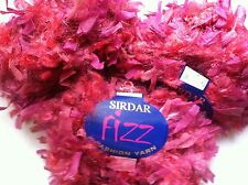 LOT of 3 Sirdar Fizz #792 Matador -Red Wine Pink Paper Flag & Fuzzy Tuft Yarn