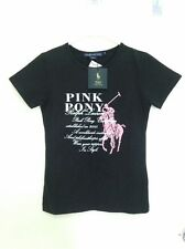 NWT Polo Ralph Lauren Women's Slim Fit Black Casual Tshirt/Tops Size Small (L20)
