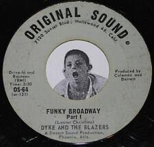 Funk 45~Dyke and the Blazers~Funky Broadway Part 1 & 2~Original Sound 7""