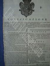 GRANDUCATO TOSCANA-NORME VENDITA CARTA BOLLATA AL MINUTO-ALL'INGROSSO-AREZZO1778