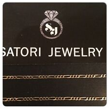 """14K Yellow Gold Solid 26"""" Figaro Link Chain*7.2 Grams Mens Boys Gift Brand New!"""