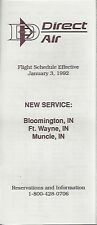 Direct Air system timetable 1/3/92 [6011] (Buy 2 get 1 free)