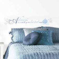 CINDERELLA Quote A DREAM IS A WISH YOUR HEART MAKES wall sticker 13 decal Disney