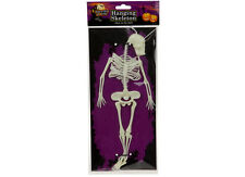 """12"""" Glow In The Dark Hanging Skeleton Halloween Party Decorations Trick Or Treat"""