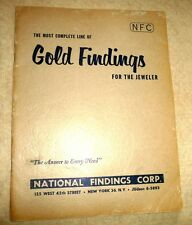 GOLD FINDINGS FOR THE JEWELER CATALOG GAGE CHARTS CUFF LINK DIAMOND WEDDING RING