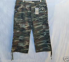Women's BB Camoflage Jean Short Pants Size Large New With Tags