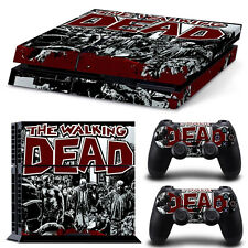 Walking Dead Vinyl Decals Skin Stickers for PS4 Playstation 4 Console Controller