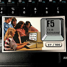 F5 refresh computer key enamel pin collectable Its So refreshing