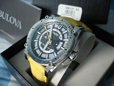 Bulova Men's 96B131 Precisionist Champlain Watch Large case Yellow second hand