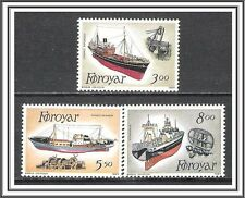 Faroe Islands #158-160 Fishing Trawlers MNH
