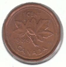 Canada 1989 Elizabeth II - 1 Cent Bronze Coin - Maple Leaf