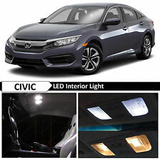 10x White Interior LED Lights Package for 2016 Honda Civic Sedan or Coupe + TOOL