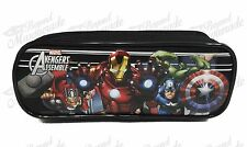 Marvel Avengers Zippered Pencil Pouch Teen Boys Pencil Pen Crayon Case - Black