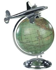 Art Deco World Globe Aluminum Super Constellation Aeroplane