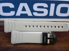 Casio Watch Band DBC-32. Data Bank Off White / Beige  Original Resin Strap 22mm