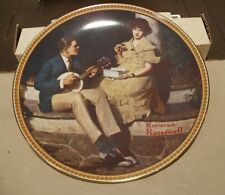 "Norman Rockwell Rediscovered Women Collection""Pondering On The Porch"" Plate COA"