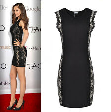 Sexy Fashion Celeb Womens Lace Evening Formal Cocktail Party Bodycon Dresses 10