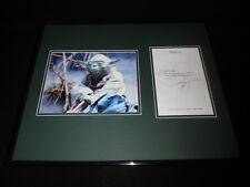 Frank Oz Signed Framed 16x20 Typed Letter & Photo Set Star Wars Yoda