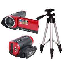 "Perfect DV777 HD 720P 16MP 16X Zoom Digital Video Camera DV Red + 40"" Tripod"