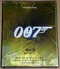 James Bond Blu-ray Volume Two (Used) Thunderball From Russis With Love For Your