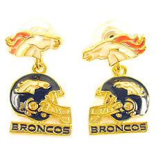 NFL Football Denver Broncos Gold Earrings