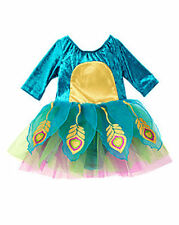 NWT GYMBOREE 2PC PEACOCK COSTUME - TUTU DRESS & HAT - SIZE 6-12 MONTHS