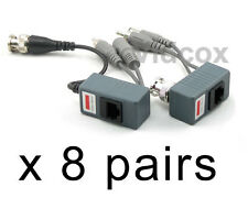 8 Pairs (Video Power Audio) Balun BNC to Cat5e Cat6 UTP for CCTV Security Camera