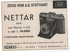 Pubblicità 1957 IKONTA NETTAR ZEISS IKON FOTO PHOTO old advert werbung publicitè
