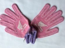 Women's Girl's New Zealand Logo Pink Lilac Stretch Knit Finger Gloves