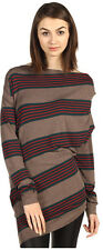 $420 NWT Vivienne Westwood Anglomania Striped Toga Drape Top Shirt Size XSMALL