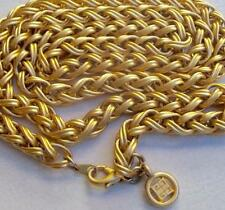 GIVENCHY Vintage Necklace Haute Couture Chunky Gold Byzantine Chain Links