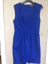 Asos/Girls On Film Cobalt Blue Textured Mock Wrap Skirt Dress Size 10