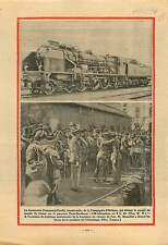 Locomotive Compound-Pacific Compagnie d'Orléans Railway France 1931 ILLUSTRATION