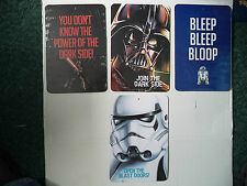 Four Colorful Star Wars Wall Signs Size 8.5 Inches Wide X 12.5 High