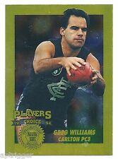 1994 AFLPA Players Choice Collectors Edition [ PC3 ] Greg WILLIAMS Carlton