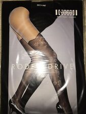 Wolford Rodeo Drive Tights Medium Black/Black 18278 Stay up effect RARE