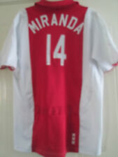 Ajax Home 2007-2008 Miranda Football Shirt Small /40513
