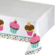 Cupcake Table Cover 54 x 84 Inch Tablecloth Birthday Party Supplies Bake Sale  1