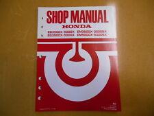 1986 HONDA EB35000X Generator Factory Service Shop Repair Manual
