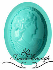 Lady Cameo Silicone Mould Mold Sugarcraft Cake Toppers Jewellery Vintage